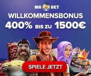 400% Willkommensbonus von MR.BET